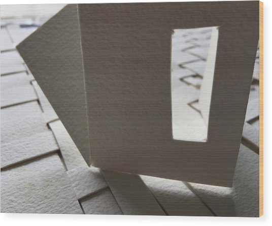 Paper Structure-3 Wood Print