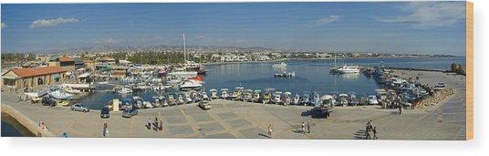 Paphos Harbour Wood Print by Donald Buchanan