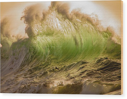 Papohaku Waves Wood Print
