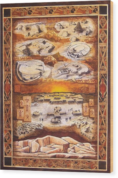 Paquime Throughout Time Wood Print by Candy Mayer