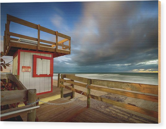 Paradise Beach Sunrise Wood Print