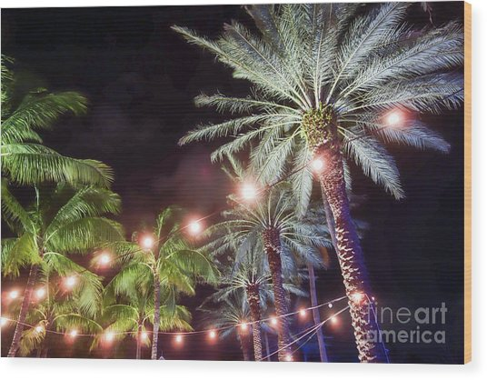 Wood Print featuring the photograph Paradise By Night by Wilko Van de Kamp