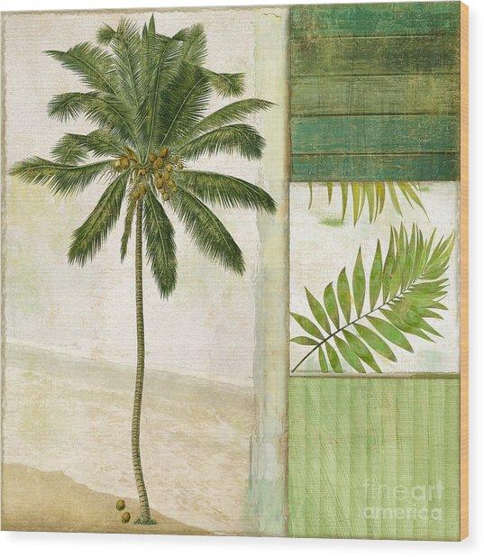 Paradise II Palm Tree Wood Print