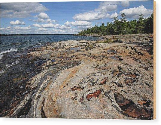Paradise On Wreck Island Wood Print