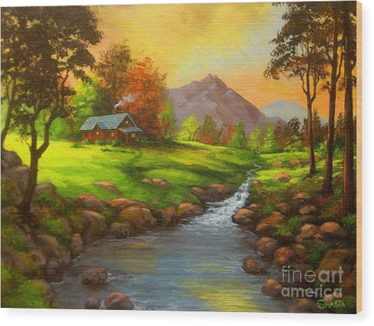 Paradise  Valley Wood Print by Shasta Eone