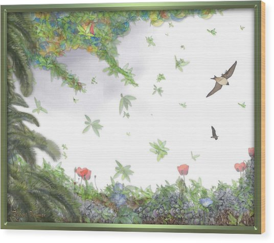 Paradise Without War Wood Print