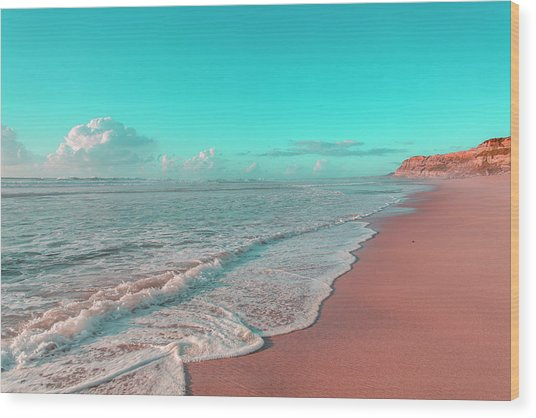 Paradisiac Beaches Wood Print