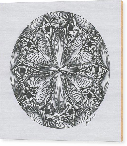 Paradoxical Zendala Wood Print