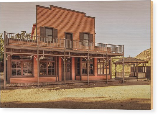 Paramount Ranch Saloon Wood Print