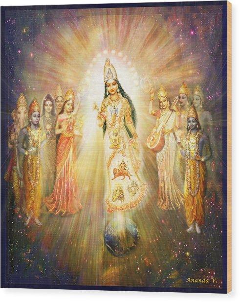 Parashakti Devi - The Great Goddess In Space Wood Print