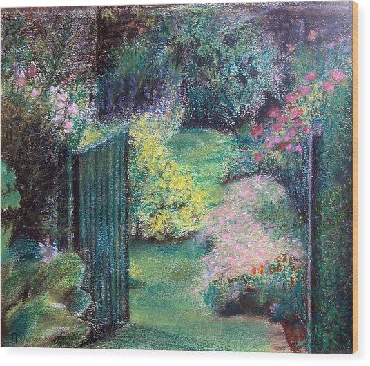 Parc Wood Print by Muriel Dolemieux