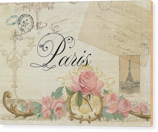 Parchment Paris - Timeless Romance Wood Print