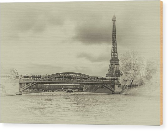 Paris 2 Wood Print