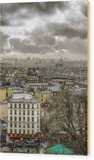Paris As Seen From The Sacre-coeur Wood Print