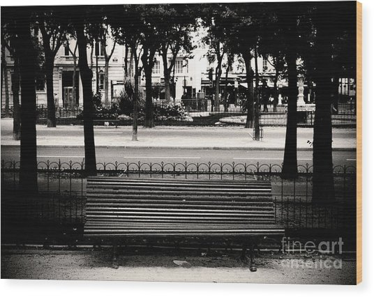 Paris Bench Wood Print