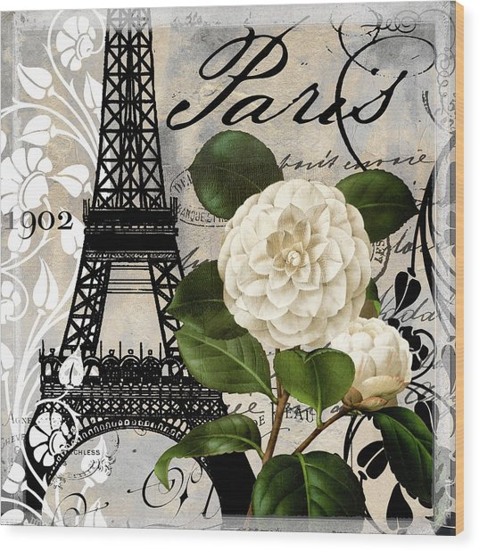 Paris Blanc I Wood Print