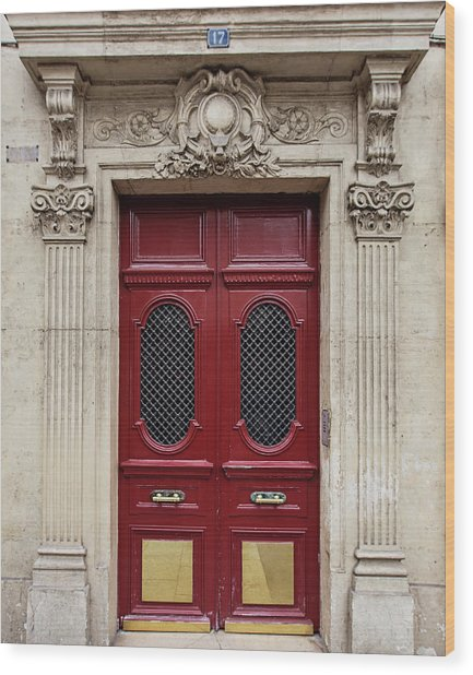 Paris Doors No. 17 - Paris, France Wood Print