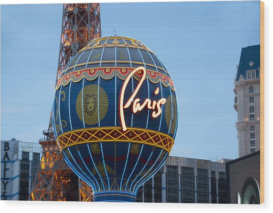 Paris-eifel Tower-las Vegas Wood Print by Neil Doren