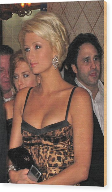 Paris Hilton  Wood Print