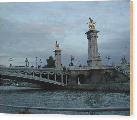 Paris In August Wood Print