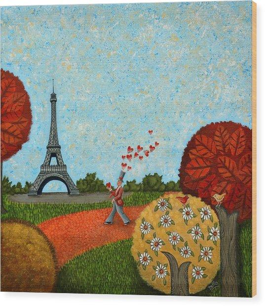 Paris Je T Aime Wood Print
