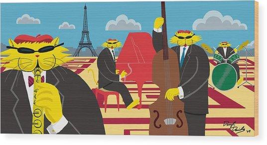 Paris Kats - The Coolkats Wood Print