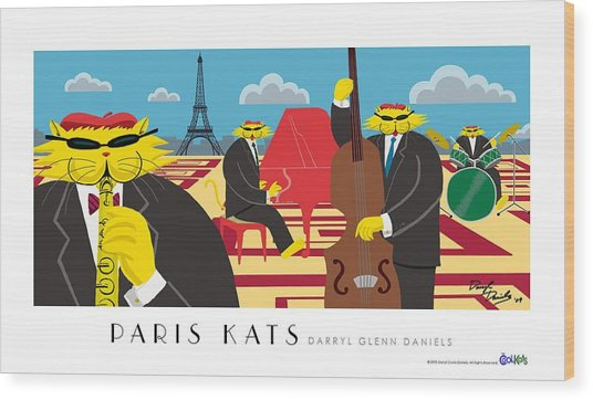 Paris Kats Wood Print