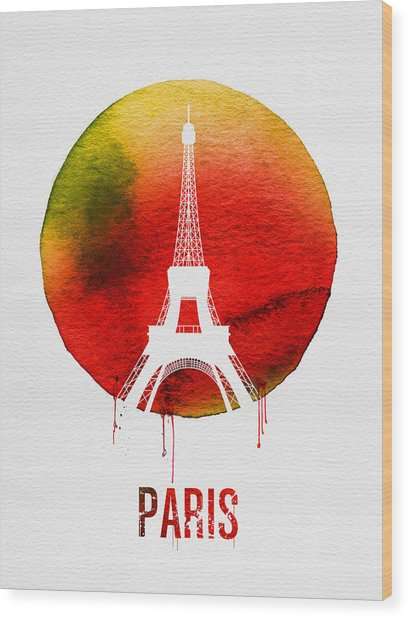 Paris Landmark Red Wood Print