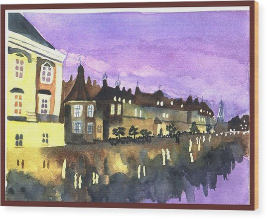 Wood Print featuring the painting Paris Lights by Jane Croteau