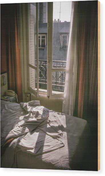 Paris Morning Wood Print