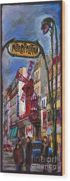 Paris Mulen Rouge Wood Print
