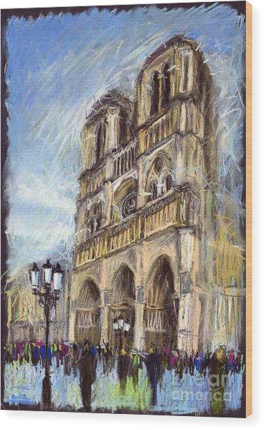 Paris Notre-dame De Paris Wood Print