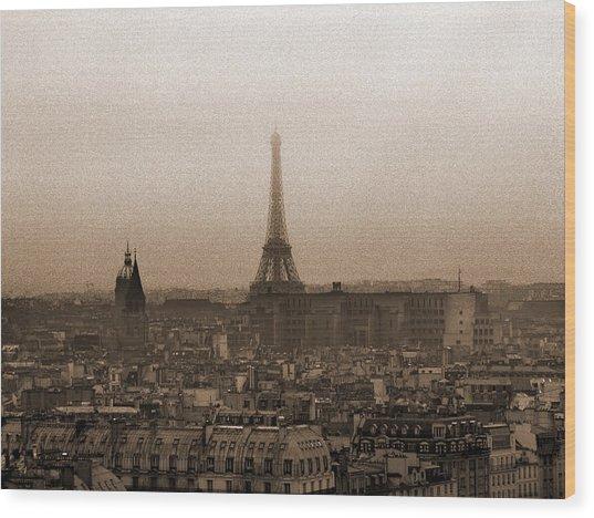Paris Of Yesteryear II Wood Print