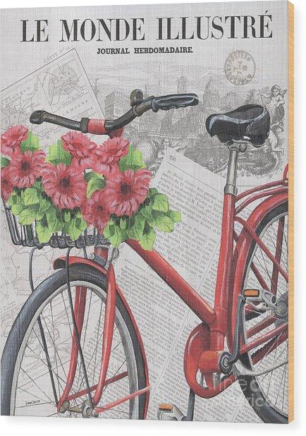 Paris Ride 2 Wood Print