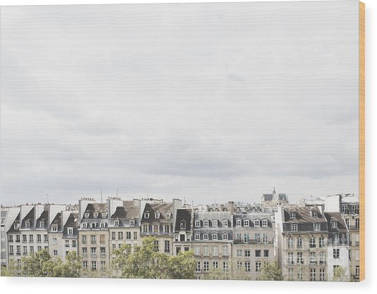 Paris Rooftops View From Centre Pompidou Wood Print
