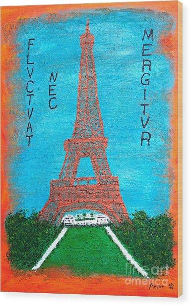 Paris Wood Print by Sascha Meyer
