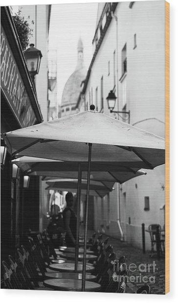 Paris Scene Wood Print