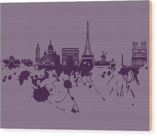 Paris Skyline.1 Wood Print