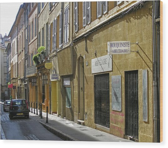 Paris Street Scene Wood Print