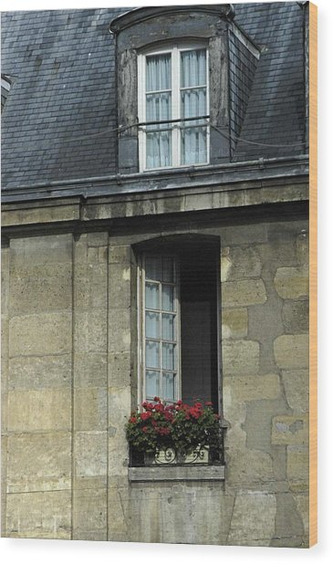Paris Window Wood Print