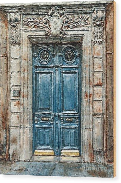Parisian Door No. 3 Wood Print