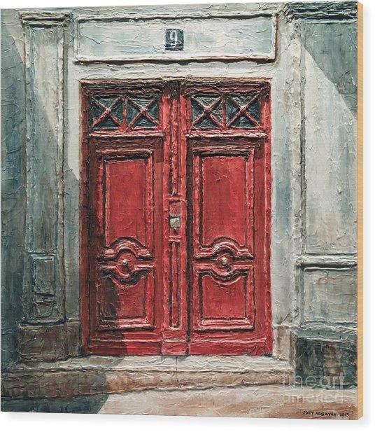 Parisian Door No.9 Wood Print