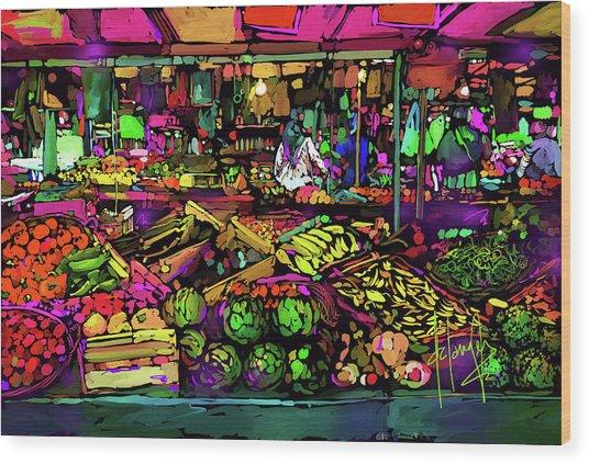 Parisian Market Wood Print