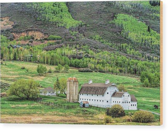Park City Utah Barn Wood Print