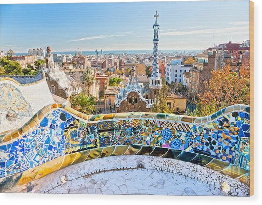 Park Guell Barcelona Wood Print