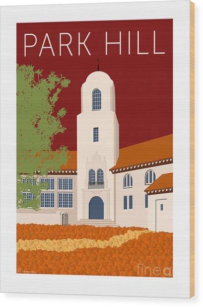 Park Hill Maroon Wood Print