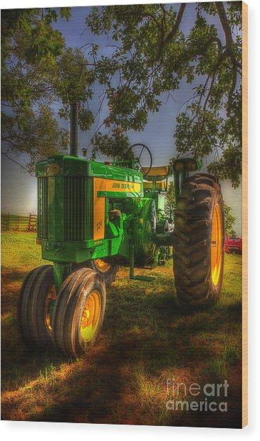 Parked John Deere Wood Print