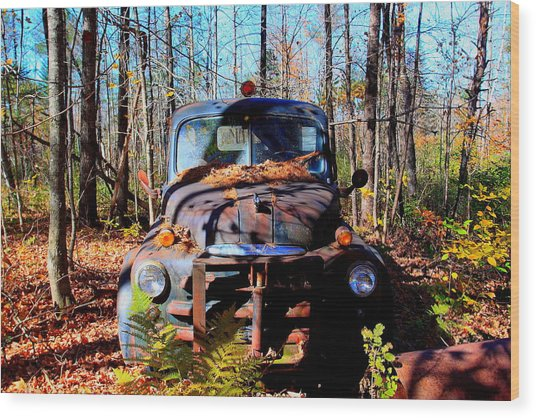 Parked Wood Print by Tom Johnson