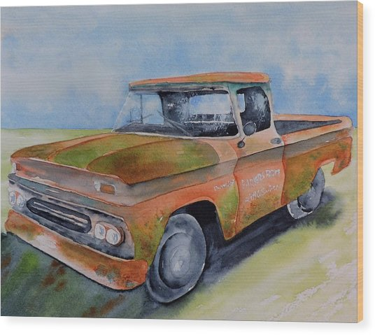 Parker's Farm Pick Up Wood Print