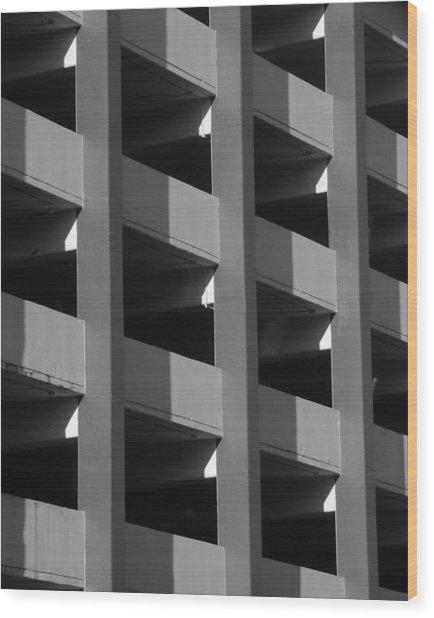 Parking Garage Milwaukee Abstract 2334 Wood Print